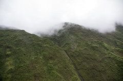 Misty Mountains (Angela Freeman) Tags: misty mountains kauai hills green clouds weather helicopter pentaxk5 sigma18300mm waterfall