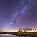 Milky Way and remains of a pier