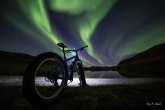 Fatbike in Burfjord (Dan F Skovli) Tags: burfjord canon6d samyang14mm skovli troms norway bike fatbike salsacycles salsabikes utptur utinaturen autumn aurora arctic nordtroms kvnangen
