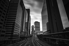 Dead City ([~Bryan~]) Tags: deadcity cityscape urbanlandscape urban road street longexposure ndfilter bw blackandwhite monochrome building architecture central hongkong daytimelongexposure bryanleung time