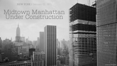 NEW YORK Under Construction / January 12, 1971 (cobravictor) Tags: newyorkcity ny nyc midtownmanhattan manhattanskyline underconstruction 1971 1975 skyscrapers rooftop bw beautiful architecture landscape