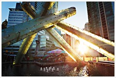 Day 350 - As the Sun Sets (Free 2 Be) Tags: project365 torch sunlight water arts jackpooleplaza vancouver photoaday architechture dailyphoto christmas carousel 365 116photosin2016 olympiccauldron germanchristmasmarket photojournalism postaday christmasmarket