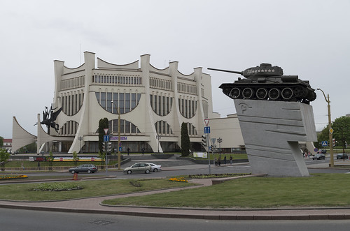 Grodno Regional Drama Theater and tank, 03.05.2014.