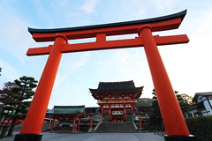 Fushimi (Teruhide Tomori) Tags:    torii   fushimiinari shrine kyoto japan tradition red japon     building construction architecture wooden