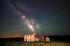 """One Night Back At The Ranch (Robin-Wilson) Tags: night milkyway stars ranch house lightpainting airglow abandoned colorado mountains summer nikond800 nikon1424mmf28 30sec f28 iso3200 bravo once was home"""" oncewashome"""