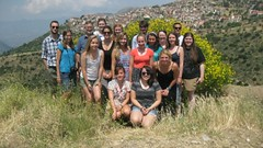 After leaving Delphi, with the village of Aráchova in the background