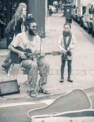nice moment in portobelo st market (Bogdan Tucu) Tags: street uk portrait black cute london art girl monochrome beauty eyes artistic market hill streetphotography adobe expressive manual portobelo lovely notting canon500d