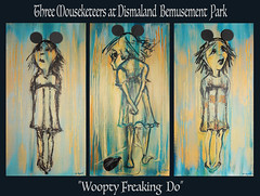 THREE MOUSEKETETTERS AT DISMALAND BEMUSEMENT PARK