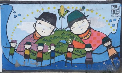 Nice mural near the school in Guayamo