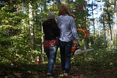 Property in September (jmpershick) Tags: camping autumn friends people plants ontario canada fall nature hiking chainsaw parrysound pals lovers plaid muskoka portaits algonguin canadianfall northerontario