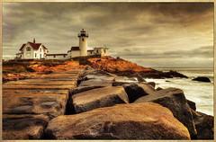 Eastern Point (NYRBlue94) Tags: ocean light lighthouse texture point ma harbor massachusetts gloucester eastern hdr