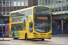 BF15 KFE (VGW195) Yellow Buses (Joe Dobson (66757)) Tags: 3 buses yellow eclipse volvo wright bournemouth gemini ratp yellowbuses bournemouthyellowbuses b5tl volvob5tl wrighteclipsegemini3