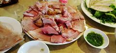 Pork for lunch (Roving I) Tags: restaurants meat vietnam hoian pork foodporn dining sauces vietnamesecuisine vinahousespace