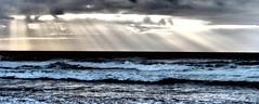 Algarve (Sep 15) (leaseoflife) Tags: sea sun beach portugal clouds surf waves dramatic algarve sunbeam