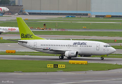 Air Baltic 737-500 YL-BBQ (birrlad) Tags: netherlands amsterdam airplane airport ramp taxi aircraft aviation air airplanes terminal baltic apron international airline boeing airways airlines schiphol ams riga airliner 737 taxiway b737 737500 737522 b735 ylbbq