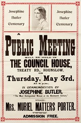Poster : Josephine Butler Centenary. A Public Meeting will be held, 1928.