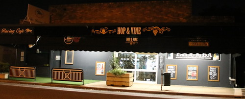hop and vine at night