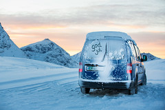 Winter mountains (Einar Angelsen) Tags: winter cars car norway volkswagen norge photo caddy troms
