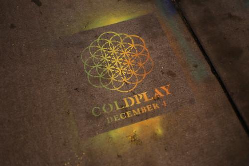 Coldplay Stencil