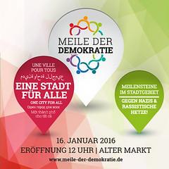 Meile der Demokratie 2016 - Banner quadrat