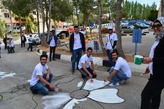 DSC_0063 (Al Ahliyya Amman University) Tags: street flowers students colors painting colorful university pretty time weekend president amman happiness jo jordan characters aau joyful       ccbysa  ahliyya          balqa      alsaro