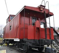 St. Paul, Virginia (3 of 6) (Bob McGilvray Jr.) Tags: railroad red train private virginia nw steel tracks stpaul caboose business va cupola norfolkwestern