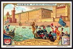 Liebig Tradecard S884 - Easter in Paris, 1555 (cigcardpix) Tags: vintage advertising ephemera liebig chromo tradecards