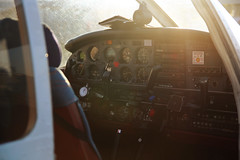 Controls (Ale_Chi) Tags: sunset sun glass plane airplane fly controls aereo bussola