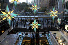 Shifting colors at Time Warner Center (DC Products) Tags: christmas newyorkcity decorations newyork timewarnercenter 2015