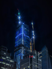 crowning 181 (pbo31) Tags: sanfrancisco california nikon d810 color night dark black november 2016 fall city urban boury pbo31 construction tower financialdistrictsouth blue crane salesforce 181fremont skyline panoramic large stitched panorama crown