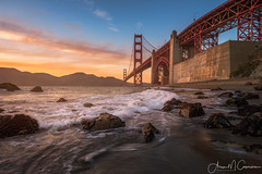 Marshall's Gold (Aron Cooperman) Tags: aroncooperman california goldengatebridge landscape marshallsbeach northerncalifornia openlightphoto pacificocean sanfrancisco september2016 sunset nikond800 seascape sf goldengatenationalrecreationarea coastline