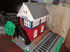 Lego Ludborough Signal Box (garethjellis) Tags: lego train trains rail road locomotive steam engine signal box ludborough man victorian