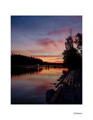 Sunset on the Stuart River II. (local37) Tags: sunset stuart river fortstjames bc dock