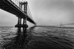 Stained (FerGarciaPhoto) Tags: architecture bw bridge brooklyn city cityscape clouds commons d750 fog longexposure manhattan monochrome newyork nikon outdoor seascape sky skyline tamron travel unitedstates urban water winter