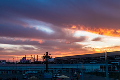 Sunset in Sochi Olympic Park (DVchigarev) Tags: sunset sky clouds evening fall autumm hotel park subtropical formula entry russia canon 70d 24105 l usm cloud outdoor dusk