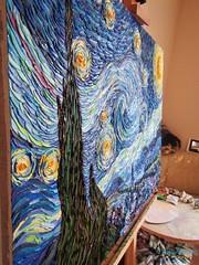 "In my Studio Fragment of ""Starry Night"" Vincent Van Gogh copy  #OilPainting #OilOnCanvas #PaletteKnife #KnifeArt #TexturePainting #TextureArt #Texture #Textures #Postimpressionism #Impressionism #Art #Painting #Expressionism #Vincent #VanGogh #StarryNight (alisa_denoizz) Tags: oilpainting oiloncanvas paletteknife knifeart texturepainting textureart texture textures postimpressionism impressionism art painting expressionism vincent vangogh starrynight"