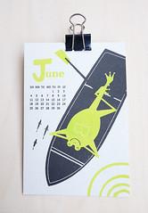 2017 calendar / Kyoko Nemoto (Kyoko Nemoto) Tags: dog flog illustrator illustration silkscreen print art artwork 2017