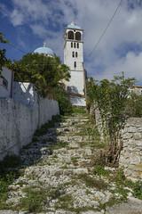 Church Tower at Exogi (hippyczich) Tags: church tower steps exogi ithaca greece