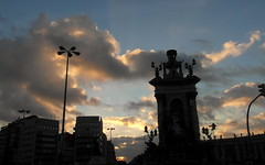 barcelona sunrise (kexi) Tags: barcelona catalonia spain europe sunrise sky clouds silhouettes morning early samsung wb690 september 2015 instantfave