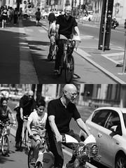 [La Mia Citt][Pedala] con il BikeMi (Urca) Tags: milano italia 2016 bicicletta pedalare ciclista ritrattostradale portrait dittico nikondigitale mir biancoenero blackandwhite bn bw 8987 bikemi bikesharing