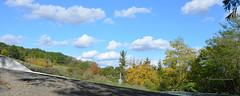 """Petit panorama d'automne sur le sentier (Brigitte .. . """"Tatie Clic"""") Tags: 201610183 automne octobre panorama panoramique paysage ciel nuages sentier route chemin sansretouche arbres lotetgaronne aquitaine francesudouest vert verdure nature"""