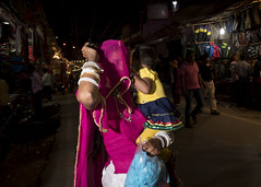 Pushkar 2016 (Blinkofanaye) Tags: pushkar 2016 rajasthan india candid street woman child covered face chador veil veiled bangles festival colors colour shopping rural fair