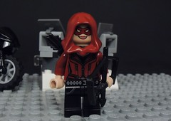 Speedy (Thea Queen) (MrKjito) Tags: lego minifig cw arrow speedy thea queen red green oliver super hero side kick entry eagleland400 dc comics comic tv show custom hyrbid water slide decal