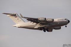 Kuwait Air Force --- Boeing C-17A Globemaster III --- KAF343 (Drinu C) Tags: adrianciliaphotography sony dsc hx100v mla lmml plane aircraft aviation kuwaitairforce boeing c17a globemaster iii kaf343 military