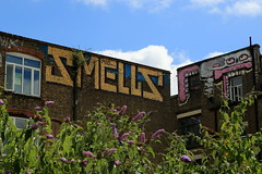 smells sweettoof (Luna Park) Tags: london uk roller graffiti smells sweettoof rooftop lunapark