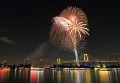 winter fireworks in Odaiba 2016 (cate) Tags: fireworks 2016 odaiba winter