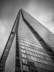 Shard v2 (Nigel Wallace1) Tags: london shard tall building monument tourist highest glass blackandwhite olympus omdem1 lookingup high capital city