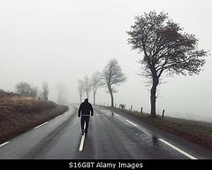 Photo accepted by Stockimo (vanya.bovajo) Tags: stockimo iphonegraphy iphone man walking road middle alone mist fog foggy weather cold lonely loneliness lost unhappy disappointed grizzly autumn winter dark darkness fairy adult teenager male