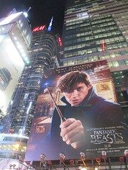 Fantastic Beasts And Where to Find Them Billboard Times Square 7770 (Brechtbug) Tags: fantastic beasts and where find them harry potter universe continued movie billboard film poster billboards advertisement transportation theatre broadway 7th avenue 45th street near 42nd theater district new york city 11082016 ad pop popular art mural tile two daniel radcliffe ron rupert grint hermione emma watson j k rowling wizarding world etc director david yates eddie redmayne times square nyc