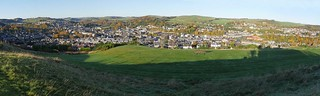 Panoramic view of Hawick taken from Heron Hill